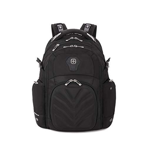 """SwissGear 5709 ScanSmart Laptop Backpack. Abrasion-Resistant & Travel-Friendly Laptop Backpack (18"""", Black Backpack) ()"""