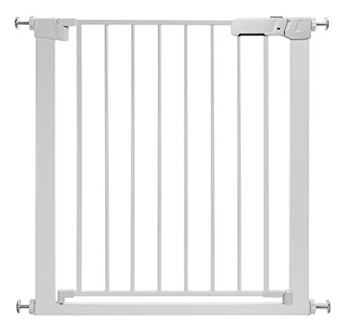 Tokkidas Auto Close Safety Baby Gate, 35″-37.8″ Easy Walk Thru Child Gate for Doorways,Stairs,Includes 2.75″ and 5.5″ Extension,4 Pack Pressure Mounts and 4 Pack Wall Cups