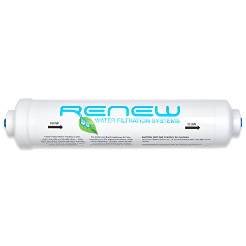 Renew 5K Refrigerator Water Filter--High Capacity FridgeIce MachineWater Filter - CommercialResidential - 14 Quick Connect John Guest Valve 3 years5000 gallons Made in USA