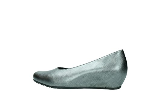 Rouleau 6227 leather metallic Wolky grey Rouleau Mocassins 90280 Mocassins w1PqdTR
