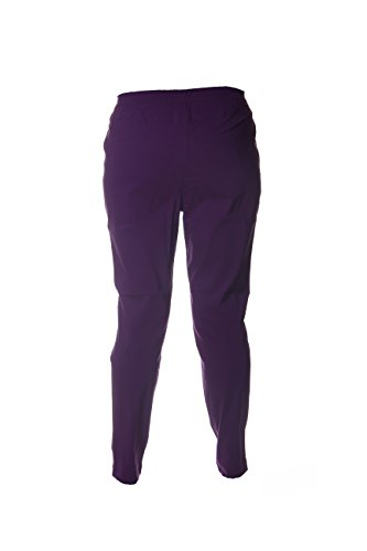 MIAMODA Schlupfhose Stoffhose Gummibund Angedeutete Hosentaschen Lila Purple Dunkel Lila 54