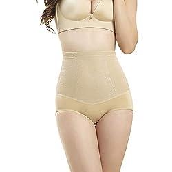 Matasleno Women Shape Wear High Waist Body Shaper Underwear Control Corset Pants Briefs Khaki