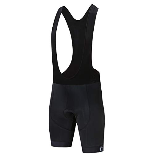 Coconut Ropamo Men's 4D Padded Cycling Bib Shorts Bike Biking Bib Shorts Bicycle Bib Shorts Italy MITI Anti-Slip Cuff (2XL) Black ()
