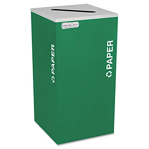 - Ex-Cell Kaiser RC-KDSQ-P EGX Kaleidoscope Collection Steel Square Indoor Paper Recycling Receptacle with Textured Top, 24 Gallon Capacity, 15-3/4