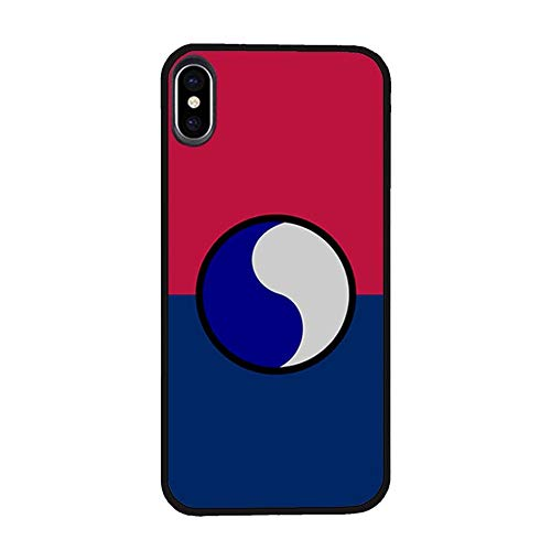 Skinsends U. S. A. Blue and Gray - 29th Infantry Division Protective Shell Compatible with iPhone X/Xs, 29th I.D. Hard Plastic Phone Case Compatible with iPhone Xs