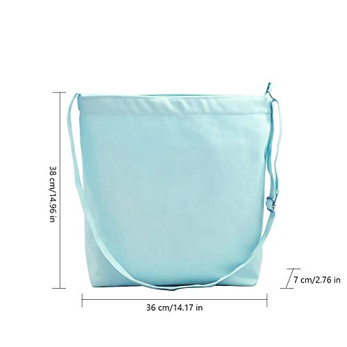 for Light Bags Japanese Beach Bag Nordic Cotton Ladies Gym Womens Green Girls Style Shoppers Summer Features Waroomss Tote Closure Shopping Natural Tote Zip Simple Solid colorTote Canvas q4HRt1