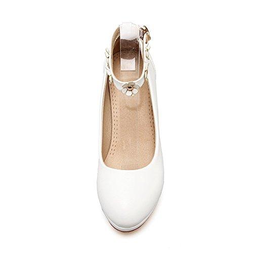 Légeres Souple Voguezone009 Haut Matière Chaussures Blanc Couleur xw0OnfqRSa