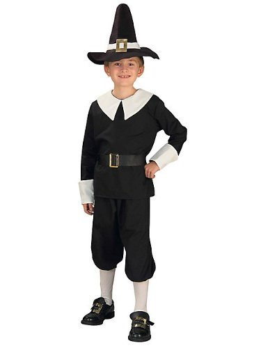 Pilgrim Boy Costume, Child's Medium