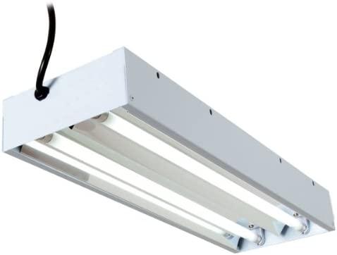 T5 Lightwave Aquariums Hydroponics CFL Propagation Grow Light Reflector 2 4 Tube