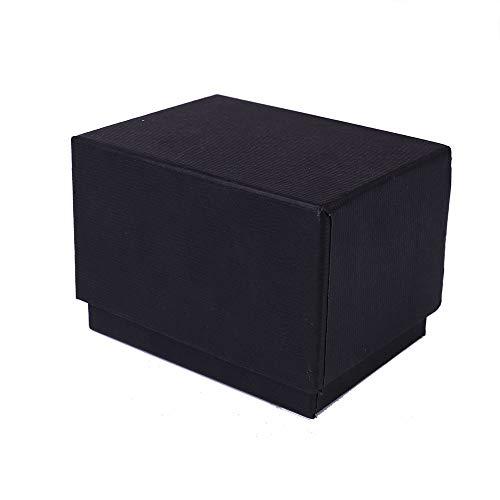 (Wffo Watch Jewelry Present Gift Box, Delicate Paper Cardboard Bangle Bracelet Wrist Box (Black))