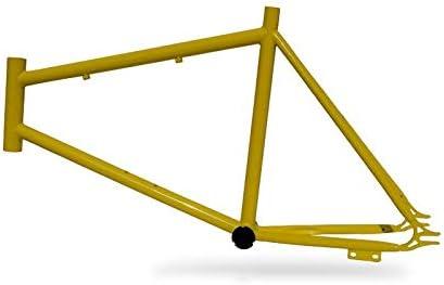 Riscko 001s Cuadro Bicicleta Personalizada Fixie Talla S Amarillo: Amazon.es: Deportes y aire libre