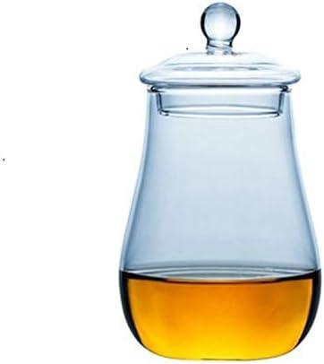 Home+ Vasos de Whisky, 2pcs Escocia Vaso de Whisky con la Tapa portátil de Viaje Nosing Rocas de Vasos de Whisky Vaso de Vino Copas (Color : 2pcs)