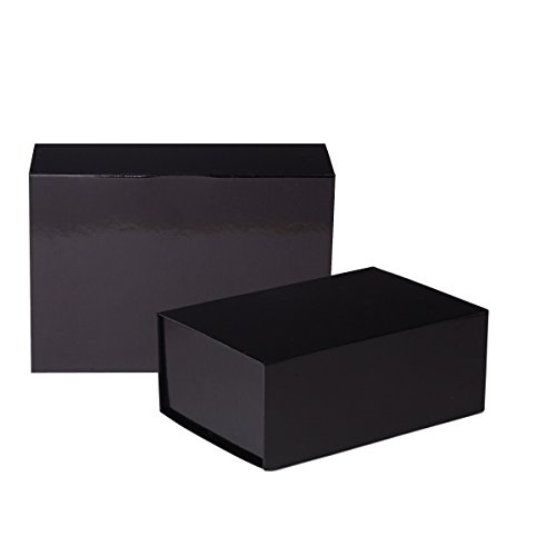 Jillson Roberts 2-Count Medium Magnetic Closure Gift Boxes Available in 5 Colors, Black - Boxes Duty Gift Heavy