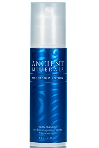 Ancient Minerals Magnesium Lotion of Pure Genuine Zechstein Magnesium Chloride - Best uesd for Topical Skin Application on Sensitive Skin(5oz) Ancient Minerals Magnesium Oil