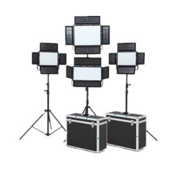 Falcon Eyes LP-2805TD 140W ビデオライト + LP-2005TD 200個 LED 100W LED パネルライト + 2LP-600TD 36W 14000LM LED ビデオ フォト ライトセット アルミケース付き   B07FZWDPSX