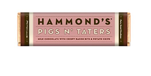 Hammonds Gourmet Chocolate Bar - Kosher - 6 Pack - 2.25 oz each (Pigs N' Taters Milk)