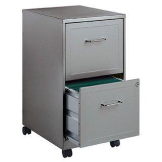 Metallic Silver 2-drawer Mobile File Cabinet (File Cabinet Metallic)
