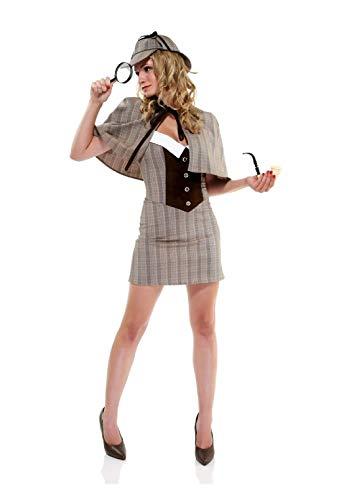 Cute Private Eye Adult Womens Costume Forplay Sherlock ()
