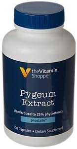 The Vitamin Shoppe Pygeum Extract 25MG, Supports Prostate Health, Standardized to 25 Phytosterols 100 Capsules