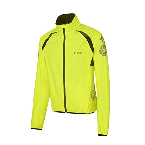 Mysenlan Rain Jacket Outdoor Raincoat Men's Women's Waterproof Coat Lightweight Windbreaker Windproof Apparel Yellow