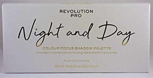 Makeup Revolution Pro Colour Focus Eyeshadow Palette, Night Day