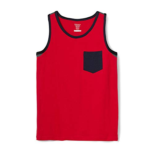 French Toast Men's Little Boys' Pocket Tank Top, Red ()