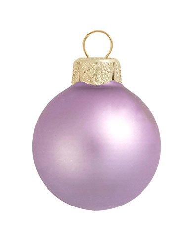 Soft Lavender Ball Ornament - 12ct Matte Soft Lavender Purple Glass Ball Christmas Ornaments 2.75