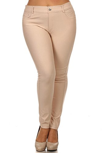 Simplicity Womens Stretchy Pockets Jeggings