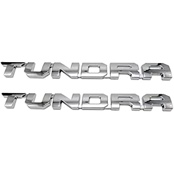 1Pc Black Tundra Door Emblem Sticker 3D Letter Badge for Tundra SR5 1974 TRD Pro