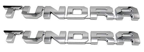 2 Pack Powertech Matte Black Tundra Door Emblem Sticker Badges For 2013-2018 SR5 1974 TRD PRO