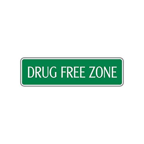 Drug Free Zone Safe Environment Warning Aluminum Metal Street Sign 4