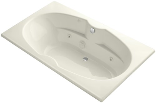 Proflex 7242 Whirlpool - Kohler K-1131-CE-96 7242 Whirlpool with Custom Pump Location, Biscuit