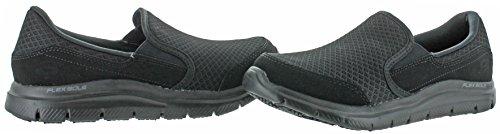 Skechers For Work Womens Gozard Slip Resistant Walking Shoe Black