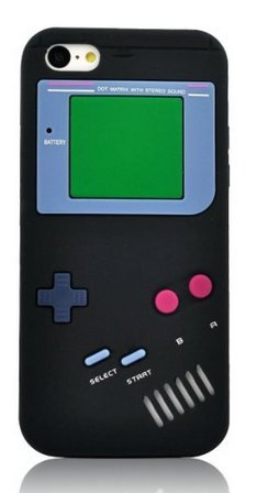 iPhone 6 Plus Case,Newstore Retro Design 3D Game Boy Gameboy Style Soft Silicone Cover Case For Apple iPhone 6 Plus 5.5 inch With A Free Packing With Newstore Trademark gifts (Black)
