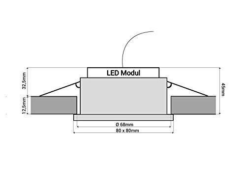LED-Einbaustrahler Ultra flach RW-1 rund Edelstahl gebürstet für Bad ...