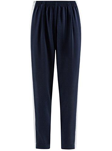 Bleu Femme Pantalon Avec Ultra Latérales Bandes Oodji 7900b Léger 0BqnvxaxUT