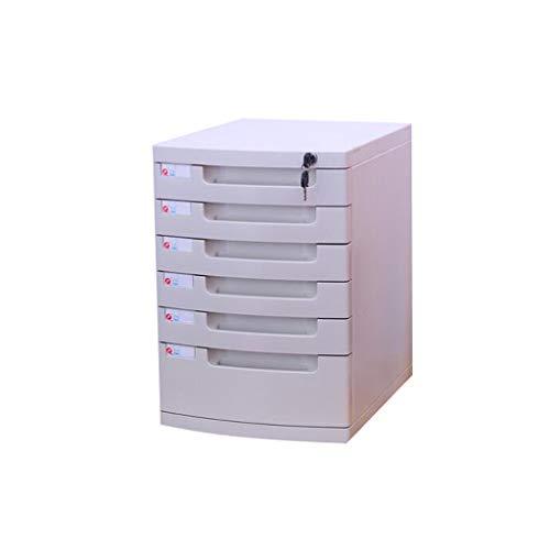 File cabinets LITING A4 Desktop with Lock File Storage Box Desk Drawer Type Data Storage File Storage Box White