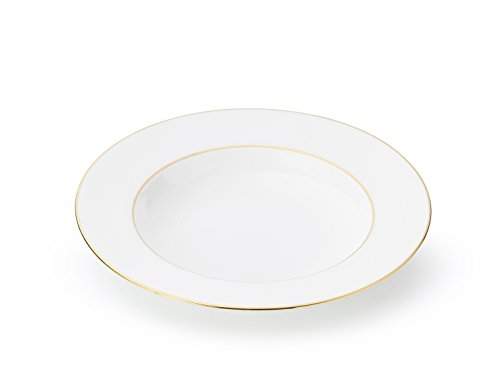 The Allingham Gold Tableware Collection – Set of 6 Soup Plates in Fine Bone China ()