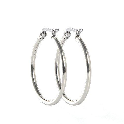 HOUSWEETY Silver Stainless Fashion Earrings