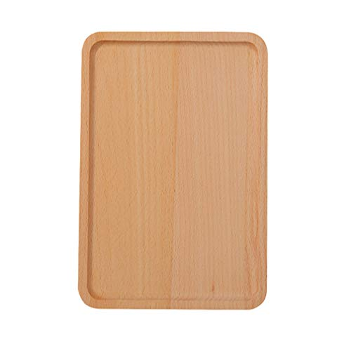 Practical Cutlery Restaurant Round Corners Serving Tray Kitchen Beechwood Tableware Dessert Dinner Plate - Tray Cutlery Beechwood