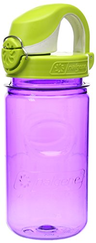 Nalgene Kids OTF Bottle with Green Cap, 12 oz, Purple
