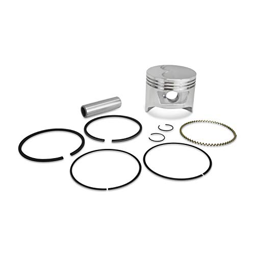 Everest New Piston Kit with Rings Pin Circlips 8HP Compatible with Honda GX240 Gas Engine