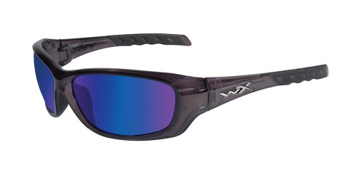 Wiley X Gravity, Emerald Mirror Polorized, Tactical Sunglasses, Black Matt Frame ()