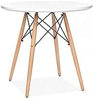 BUDMOSUR Mesa + 4 sillas réplica Eames +4 cómodos Cojines.: Amazon ...
