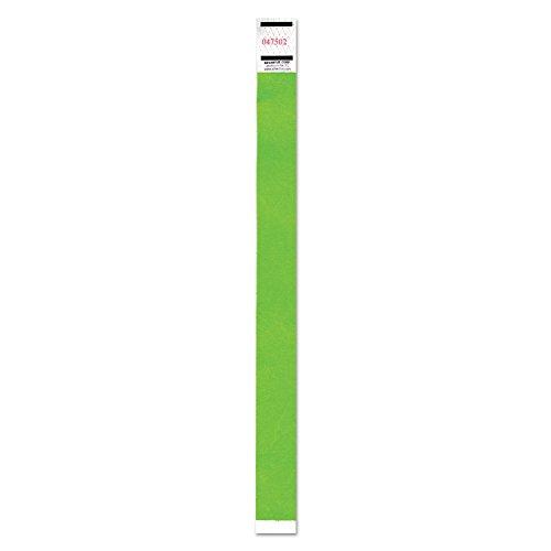 ADVANTUS CORPORATION Advantus 91122 Crowd Management Wristband, Sequential Numbers, 9 3/4 x 3/4, Neon Green, 500/PK