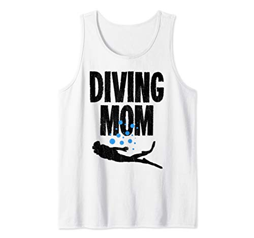 Diving Mom Scuba Underwater Adventure Tank Top