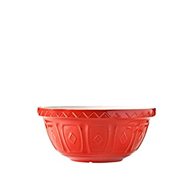 Mason Cash Colored Mixing Bowl, Red, 4.25-Quart
