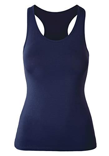Tirantes Pack 1x Camiseta Azul Mujer Algodón Para De 3 H Hiamigos qtZpwT