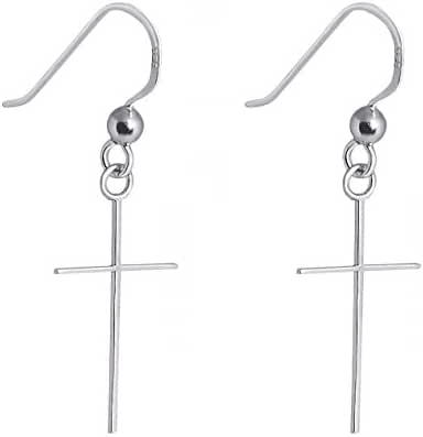 Sterling Silver Cross Earrings Jewelry for Women, Teens, Girls - Nickel Free GIFT BOXED