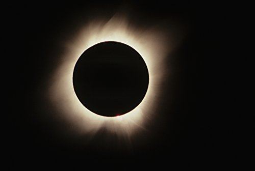 Hawaii, July 11, 1991, Solar Eclipse, Totality With Solar Flares. Poster Print